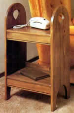 two shelf side table
