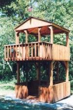 2 level frontier style playhouse - free plans, drawings & instructions