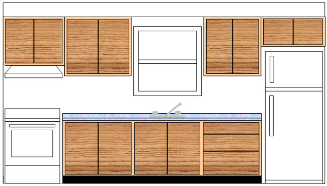 Height Of Wall Cabinets Relative To Countertop And Major Appliances