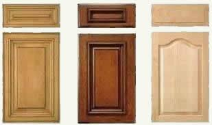 typical manufactured cabinet door and drawer fronts - 4 to 6