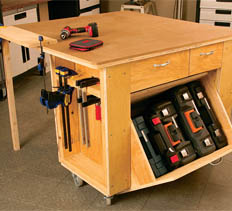 mobile workbench and tool center - free plans, drawings and instructions