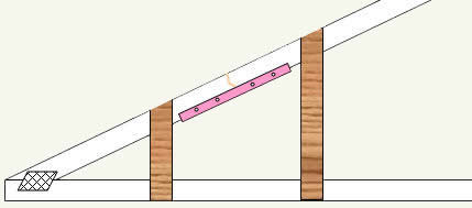 additional supports for broken rafter or truss member