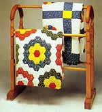 antique quilt display rack - free plans, drawings and instructions